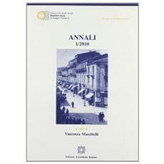 Annali 2010. Vol. 1