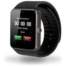"""Smartwatch GT08 Display 1.54"""" con Scheda SIM Bluetooth Camera 0.3Mpx Nero – Europa"""