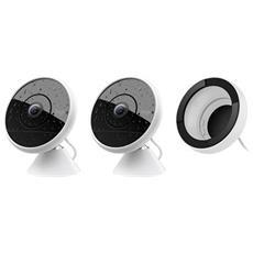 Kit di 2 Videocamere Circle 2 Cablate + 1 Supporto per Finestra