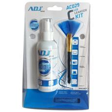 Detergente spray ADJ AC029 Lcd Cleanser Kit per la pulizia degli schermi LCD con pennellino e panno in microfibra inclusi Capacita: 100ml Office Series