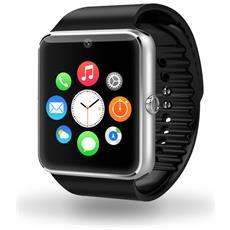 """Smartwatch GT08 Display 1.54"""" con Scheda SIM Bluetooth Camera 0.3Mpx Argento– Europa"""