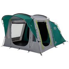 Oak Canyon 4 Tenda da Campeggio a Tunnel per 4 Persone Colore Verde / Grigio