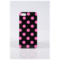 Custodia Cover Per Iphone 5 Tpu Nero Pois Viola