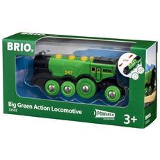 Grande Locomotiva Verde a Batteria