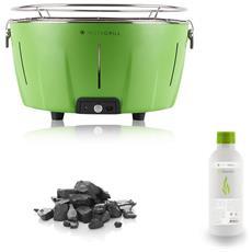 Barbecue Instagrill Da Tavolo Senza Fumo Pack Carbone E Bioetanolo Inclusi Colore Verde