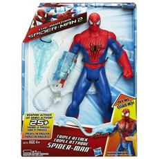 Marvel Spiderman 2 Triplo Attacco Action Figures Con Luci E Suoni
