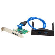 i-tec PCE22U3EXT Interno USB 3.0 scheda di interfaccia e adattatore