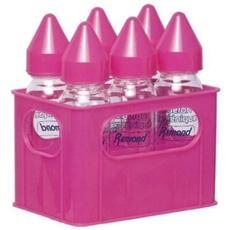 Pack di 6 biberon in vetro, 6x 250 ml, Rosa