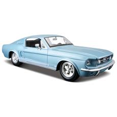 Ford Mustang Gt 1967 Vintage 1:24 (Blu / Rosso)