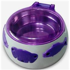 Ciotola con Apertura Automatica del Coperchio in ABS Platica e Acciaio Inox Magic Dog Box 17.5 x 8 cm