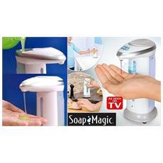 Dispenser Erogatore Dosatore Sapone Bagno Automatico Infrarossi Soap Magic