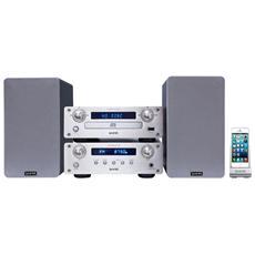 VH-MS440SL, Micro set, Argento, CD-A, MP3, WMA, FM, 220 x 285 x 70 mm, Blu