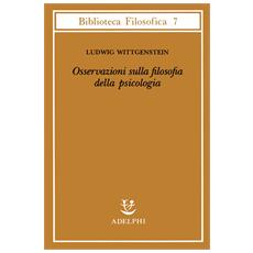 Osservazioni sulla filosofia della psicologia