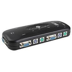 Switch Kvm 4 Porte Ps2 Tastiera Monitor Mouse Adattatore Pc