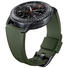 Cinturino Gear S3 In Silicone Verde S3 Frontier E Classic Verde Cachi Green Et-ysu76mgegww