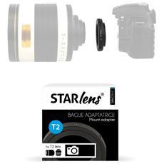 Sringeos Adattatrice Per Montatura Anello T2 Per Fotocamera Reflex, Colore: Nero