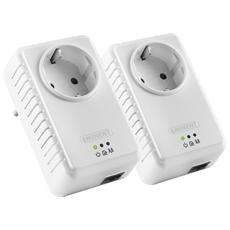 KIt Powerline 500Mbps Colore Bianco (2 Pezzi)