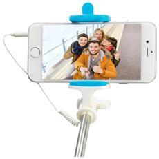 Asta per Selfie con Cavo per Smartphone Colore Blu