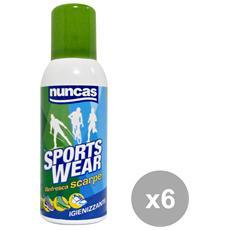 Set 6 Scarpe Igienizzante Spray Deodorante Attrezzi Pulizie