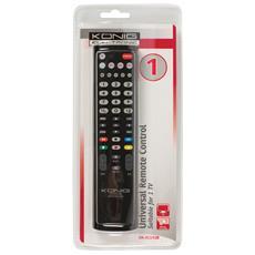 KN-RCU10B, IR Wireless, Nero, TV, Pulsanti, Alcalino, AA