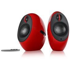 Luna Eclipse Coppia diffusori acustici 2,0 con connessione Bluetooth Colore rosso