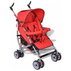 Passeggino Carrozzino Per Bambini 5 Posizioni Stile Moderno Rosso