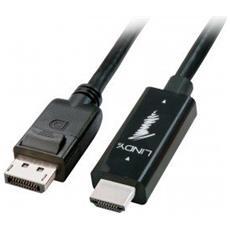 41484 HDMI Displayport Nero cavo di interfaccia e adattatore