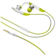 Auricolari Sportivi Fit In-Ear Cablato Colore Verde