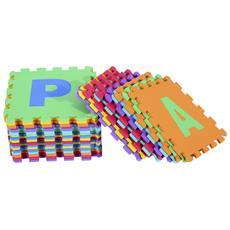 Tappeto Puzzle da Gioco Set 36 pezzi 31x31cm, colorato