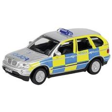 25524 Bmw X5 Police Scacchi Yellow / light Modellino