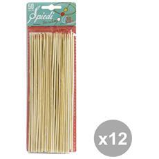 Set 12 Spiedini 20 Cm X 50 Pezzi Bottari Accessori Per La Casaavola