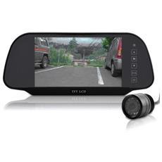 """Monitor Ad Alta Risoluzione Da 7"""" + Telecamera per Retromarcia Colore Nero"""