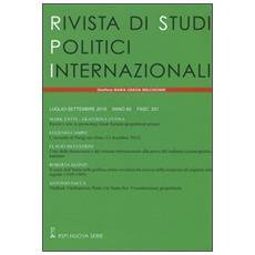 Rivista di studi politici internazionali (2016) . Vol. 3