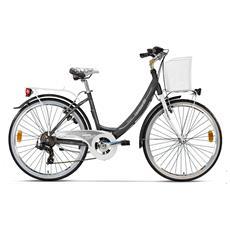 City Bike Lombardo Rimini 26 Ty300 Antracite Bianco Opaco