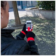 HI-FUN - Hi-glove Guanto Donna Red Lana Conduttivo 772b2599291e