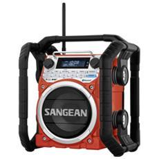 U-4 DAB+ Radio da Cantiere Bluetooth FM antispruzzo / antipolvere / antiurto colore Rosso e Nero