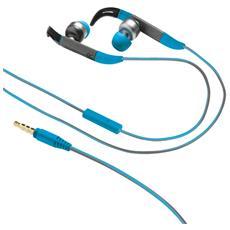 Auricolari Sportive Fit In-Ear Cablato Colore Blu