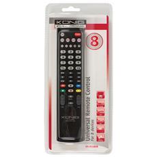 KN-RCU80B, IR Wireless, Nero, DVD / Blu-ray, TV, Pulsanti, Alcalino, AA