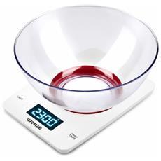 G20071 Da tavolo Rettangolo Bilancia da cucina elettronica Rosso, Bianco bilancia da cucina