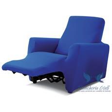 Copripoltrona Genius Relax Lounge In Tinta Unita Poltrona Blu 1002
