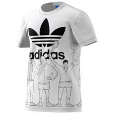 T-shirt Trefoil Graphic Bianco Fantasia Xl