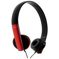 """HP MIC, Stereofonico, 3.5 mm (1/8"""") , Padiglione auricolare, Rosso, Cablato, Sovraurale"""