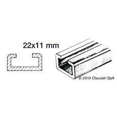 Rotaia per scorrevoli 1 m 22x11mm