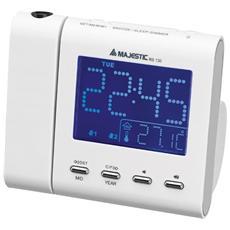 Radiosveglia proiezione ora e temperatura Bianca