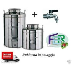 Contenitore Bidone Fusto Per Olio In Acciaio Inox 30 50 Litri Made In Italy