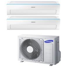 Condizionatore Fisso Dualsplit AJ040/2x09NWR Potenza 9000+9000 BTU / H Classe A++ / A+ Inverter e Wi-Fi
