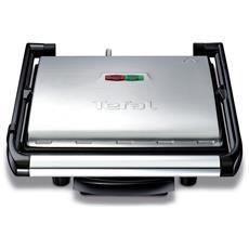 Inicio GC241D Griglia di contatto Da tavolo Elettrico 2000W Nero, Argento barbecue e bistecchiera