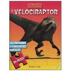 Il velociraptor. Libro puzzle
