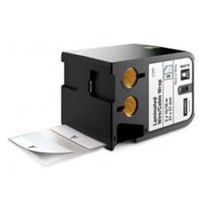 Nastro in Vinile per Etichettatrice Formato 21 x 39 mm Nero su Bianco