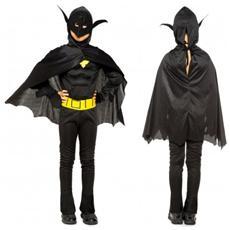 538117 Costume Carnevale Super Eroe Pipistrello Da Bambino Da 3 A 12 Anni - 6/8 Anni
